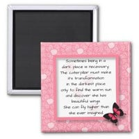 Women's Uplifting Inspirational Finding Hope 2 Inch Square Magnet