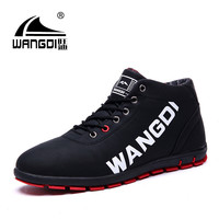 Sales Quality Men Boot Brand Fashion Autumn Man Winter Boots Quality Leather Ankle masculina Snow Boot Mens Shoes Black Botas PU