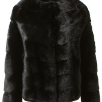 BONNY AND CLYDE BLACK MINK JACKET