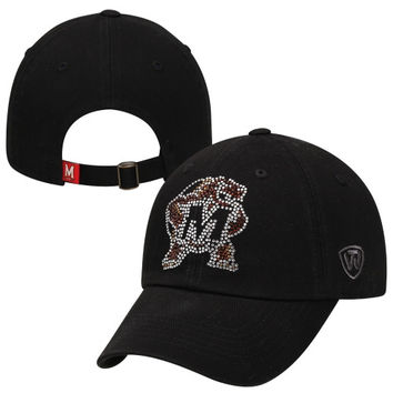 Top of the World Maryland Terrapins Ladies Butterfly Rhinestone Adjustable Hat - Black