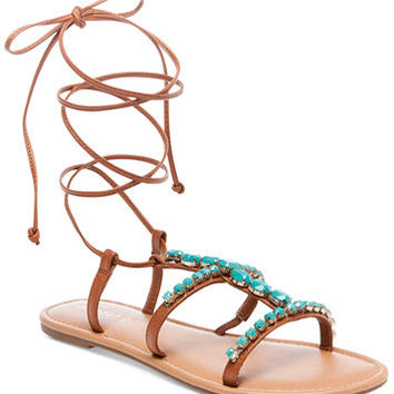 Madden Girl Kalipsoo Lace-Up Embellished Sandals | macys.com