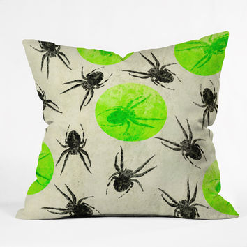 Elisabeth Fredriksson Spiders II Outdoor Throw Pillow