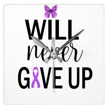 Will Never Give Up Fibro Wall Clock