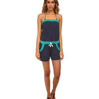 Sperry Top-Sider Marrakesh Medley Romper Cover Up Navy - 6pm.com