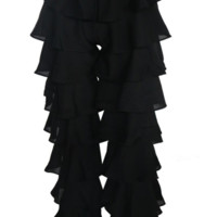 Cinta Black Ruffles Pants