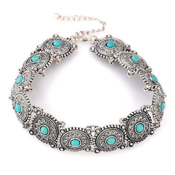 4 colors environmental protection alloy short necklace necklaces fashion
