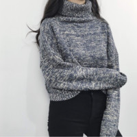 Free Shipping Retro high collar Sweaters