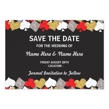 Save The Date Wedding Las Vegas Casino Card