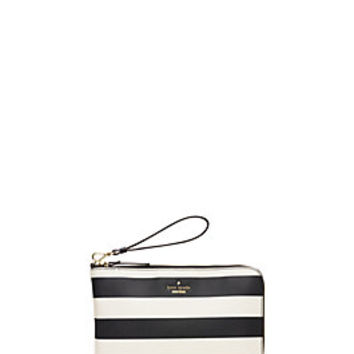 everpurse x kate spade new york quentin stripe wristlet pouch