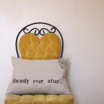 Happily Ever After 12 x 16 Removable Pillow Cover by NestaHome