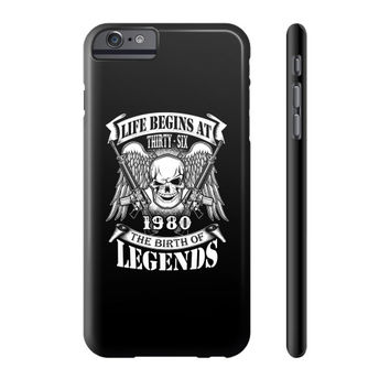 LIFE BEGINS AT 1980 Phone Case