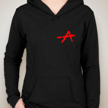"Pretty Little Liars ""-A"" & Logo Unisex Adult Hoodie Sweatshirt"