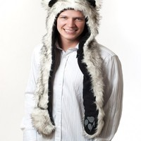 NEW Animal Full Hood Hoodie Hat / Animal Hat / Faux Fur 3 IN 1 Function USA