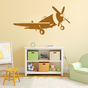 kik2322 Wall Decal Sticker plane air transport living room children's room