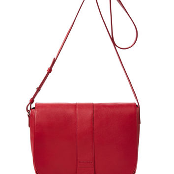 See by Chloe Women's Flap Front Leather Crossbody - Red