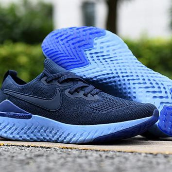 HCXX 19Aug 556 Nike Epic React Flyknit 2 BQ8928-400 Mesh Sneaker Breathable Casual Running Shoes