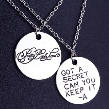 1set Movie Pretty Little Liars Got A Secret Can You Keep It Message Charm Necklacefor lovers jewelry for valentine's day