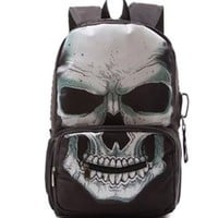 Skull Print Backpack