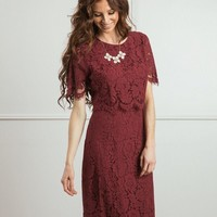 Carissa Lace Midi Dress