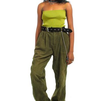 Vintage 90's Relax Olive Cords - L