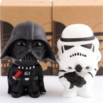 New Star Wars Figures toy 2PCS/SETS Black Knight Darth Vader Stormtrooper