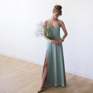 Mint maxi dress, X-back straps, Open back dress, Maxi straps dress, Backless dress, Mint Bridesmaid dress, Formal dress, Party dress