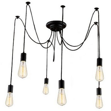 Edison Bulb Chandelier on foyer bathroom ideas