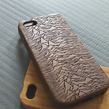 Walnut wood iphone 5 case iphone 5s case joy division iphone 5 case