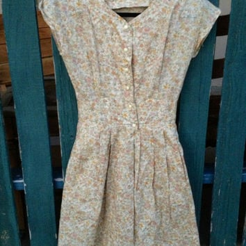 50s style Mad Men Dainty Button Up Dress