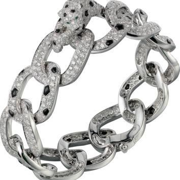 Panth¨¨re de Cartier bracelet: Bracelet - 950¡ë platinum, 861 brilliant-cut diamonds tot
