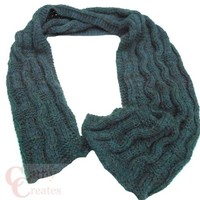 Oxford Grey Hand Knit Wavy Scarf | Cathy Creates - Handmade knit and crochet accessories and apparel