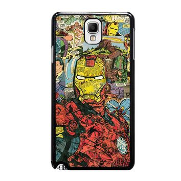 iron man comic collage samsung galaxy note 3 case cover  number 1