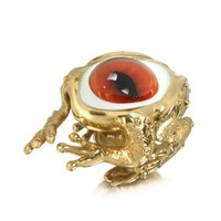 Bernard Delettrez Designer Rings Bronze Frog Ring With Eye