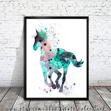 Horse 2 , Watercolor Print, watercolor painting, watercolor art, Illustration,home decor wall art, watercolor animal, Horse poster