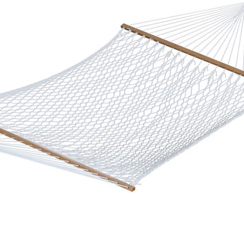 Polyester Rope Hammock - Double (White)