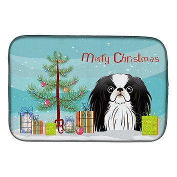 Christmas Tree and Japanese Chin Dish Drying Mat BB1602DDM