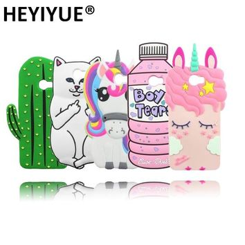 Hot 3D Cat Bottle Unicorn Minnie Minions Stitch Cactus Case Cover For Huawei Y6 II 2 Compact / Honor 5A LYO-L21 Russia Version