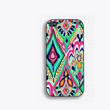 Colorful Geometric Floral Phone Case, for iPhone 5, iPhone 5s, iPhone 5c, iPhone 4, iPhone 4s, Galaxy S3, S4 and S5. Lilly Pulitzer NM-164