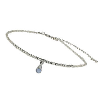 Silver Seed Bead Choker - Jewelry - Accessories