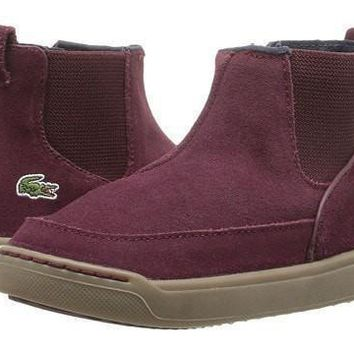 LaCoste Burgundy Suede Ankle Boots