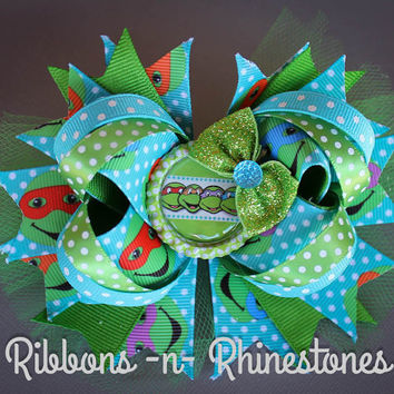 Teenage Mutant Ninja Turtles Boutique Hair Bow, TMNT Boutique Hair Bow