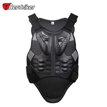 ac NOOW2 HEROBIKER Motocross Racing Armor Black Motorcycle Riding Body  Protection Jacket With A Reflecting Strip Motorcycle Armor