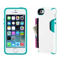 Speck Products CandyShell Card Case for iPhone 5/5S  - White/Caribbean Blue