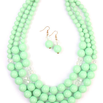 Oversize Bead Necklace Set