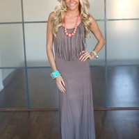 Fringed for Life Maxi Taupe
