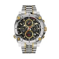 Bulova Men's Precisionist Two Tone Stainless Steel Chronograph Watch - 98B228