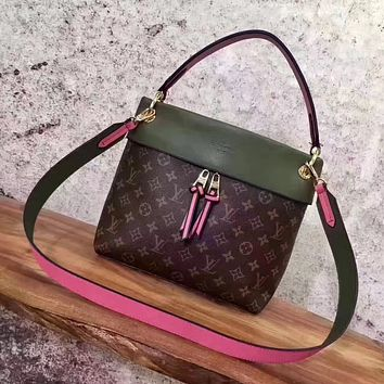 LV Louis Vuitton MONOGRAM CANVAS LEATHER TUILERIES BESACE HANDBAG SHOULDER BAG