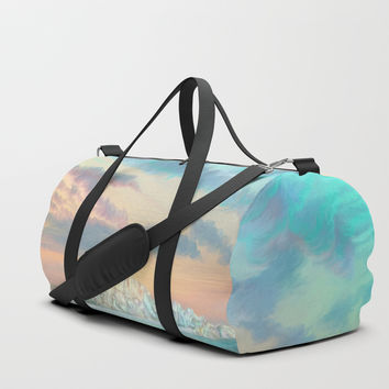Frozen waves Duffle Bag by exobiology