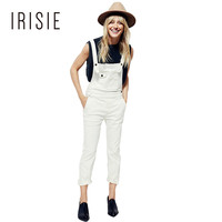IRISIE Apparel White Casual Female Overall Romper Black Slim Chic Women Jumpsuit Romper Sleeveless Preppy Basic Jumpsuit Cotton