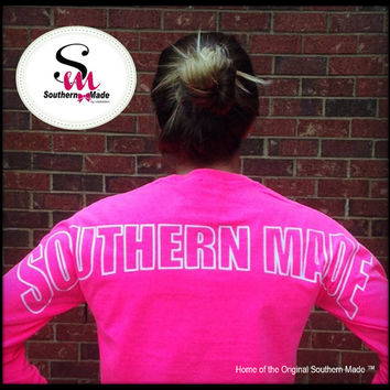 January Saving 15% OFF Southern Made Long Sleeve Outline  T Shirts (Comfort Color)